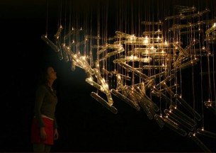 Cool interactive light sculpture by DRIFT currently exhibited at Milan Design Week.