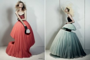 Love these shaped, sheared and shot-gun-holed dresses form Viktor and Rolf's Spring 2010 line...