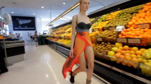 "Australian fashion label, Stolen Girlfriends Club presented their ""Untitled"" collection—no not on sexy catwalks and stylized sets—in a supermarket."