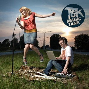 "T&K's (synth pop duo from Lille, France) debut album ""Magic Tank"""