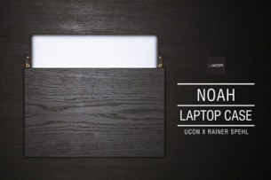 Ucon x Rainer Spehl create an oak wood laptop case with leather lining.