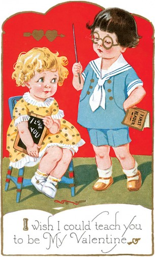 Royalty-free vintage valentine images from Dover Publishers.