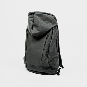 the Urban Mobility Backpack, designed by PUMA, in collaboration with Hussein Chalayan, also has a built in hoodie for protection against the elements.