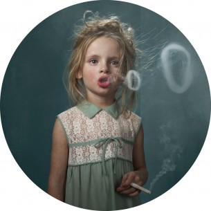 Belgian photographer Frieke Janssens recent work Children Smoking.
