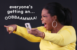 Yew Nork , YewNork : Oprah says... OBAMA